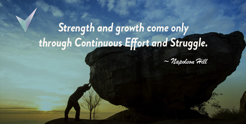 Napoleon Hill Quotes Strength and Growth